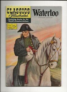 CLASSICS ILLUSTRATED WATERLOO #135 1956 GILBERTON HRN135 ORIG VG