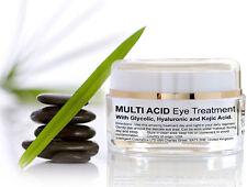 Glycolic Acid Multi Acid Organic Eye Serum Hyaluronic AHA Brighten Tighten Skin