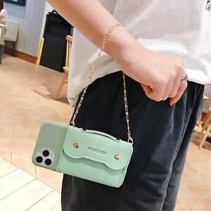 For Various Phones Hot Fashion Women Girl Handbag Chain Wallet Purse Case Cover