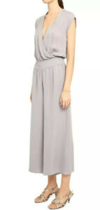 New THEORY Drape Silk Jumpsuit in Dusty Lavender, Petite / P NWT