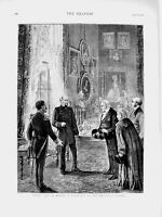 Old Antique Print 1873 Court Life Berlin Germany Emperor Palace Reception 19th