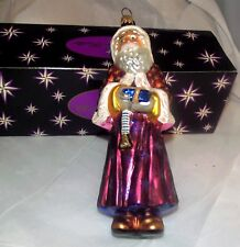 Radko Father Christmas St Nicholas Santa Claus Robe Gift Ornament Mint w/Box MIB