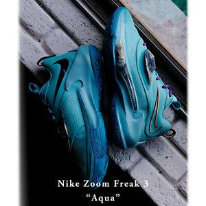 Nike Zoom Freak 3 EP III Aqua Turq Blue Purple Yellow Men Basketball DA0695-400