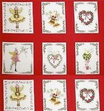 Pixywood Pixie Noël carrés panneaux tissu de matelassage MICHAEL MILLER 5474 rouge