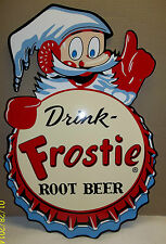 Awesome Frostie Root Beer Die-Cut Sign, great Color and Graphics, Very Glossy