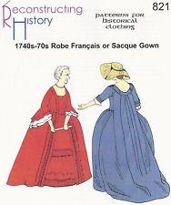 Schnittmuster RH 821 Paper Pattern 1740s-70s Robe Français