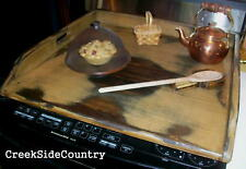 Rustic Country Primitive Wood Apartment Size Stove Top Cover