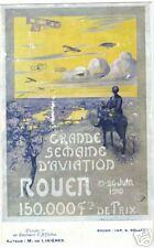 POSTCARD FRENCH 1910 AVIATION WEEK ROUEN DESIGN #5
