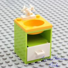 NEW Lego Belville BATHROOM SINK Med Blue w//Gold Faucet  /& Brown Basin RARE