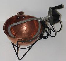 Paiolo Elettrico in Rame martellato per Polenta e Conserve diametro 25 cm