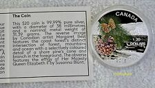 2015 Canada $20 Forests of Canada - Coast Shore Pine 1oz  .9999 Silver Proof