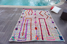 Moroccan Handmade Beni Ourain Azilal Berber Rug Authentic Tribal