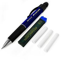 Faber-Castell Grip Plus Mechanical Pencil - Blue + 0.7mm HB Leads + Erasers
