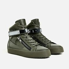 ZARA HIGH TOP ZIPPED TRAINERS/SNEAKERS UK8/42/US9 Zanotti Philipp Plein