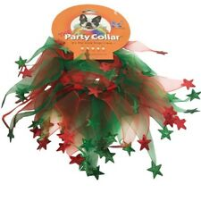 Charming Pet Holiday PARTY CHRISTMAS COLLAR Neckwear Xmas Festive Red Green Star