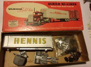 Ul,rich HO Gauge Hennis Die Cast Tractor & Trailer NIB