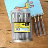 100PCSx 0.5mm HB/2B/2H Black Lead Refills Tube + Case for Mechanical Pencils