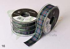 Berisfords TARTAN Luxury Scottish Approved Wedding Craft Woven Ribbon