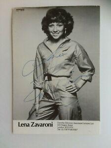 Original Hand Signed Autograph - Lena Zavaroni