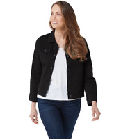 Women with Control Plus Size 2X My Wonder Denim Colored Jacket Black