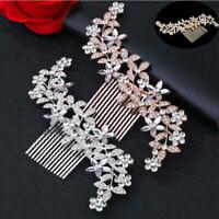 Crystal Wedding Bridal Hair Clips Pins Diamante Comb Accessories Rhinestone
