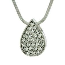 Tear Drop Necklace Made With Swarovski Crystal Clear Love Pendant  Jewelry Gift