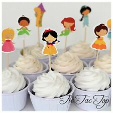 12x Disney Princess Cupcake Toppers Picks. Party Supplies Lolly Loot Bag