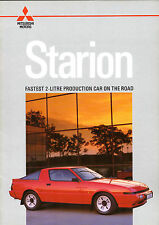Mitsubishi Starion 2000 Turbo 1986-1987 UK Market Sales Brochure