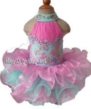 Infant/toddler/baby Lace Crystals Rhinestones pageant Glitz Dress 3T G100-5