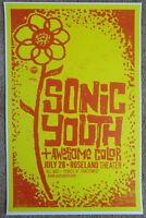 SONIC YOUTH 2009 Gig POSTER Portland Oregon Concert