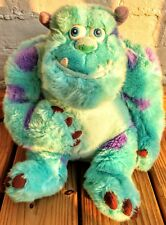 SULLY Stuffed Animal DISNEY STORE PIXAR MONSTERS INC Blue Plush 12""