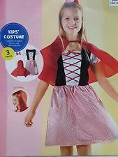 3pc Little Red Riding Hood Kids Girls World Book Day Fancy Dress Costume 8-10 yr