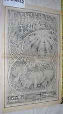 Jimi Hendrix Experience Rare Lg. 11X17 1969 Denver Pop Festival Promo Ad Poster!