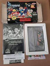 Super Bomberman (Super Nintendo, 1993) Small Box, Actual pic, SNES, Authentic