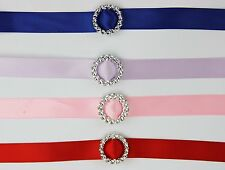 50 Acrylic 'Round' Ribbon Slider Buckle 3cm Scrapbooking Wedding Invitations