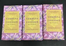 LOT OF 3 CRABTREE & EVELYN VERBENA & LAVENDER TRIPLE MILLED SOAP DISCONTINUED