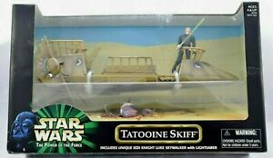 Star Wars Tatooine Skiff & Exclusive Luke Power Of The Force BNIB - Hasbro 1999