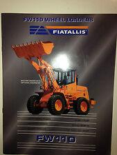 Fiat Allis FW110 Wheel Loader Sales Brochure & specifications.