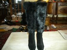 Stuart Weitzman Black Designer Knee Boots 6.5 M