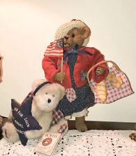 "Boyds Bears Lot Of 2 ""Patricia Bearsevelt"" 12"" Bear Betsy Ross Flag & Angelstar"