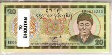 Lot de 10 billets de Banque neufs du Bhoutan tous différents - Banknotes