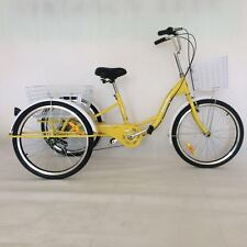 """New Yellow 24"""" 6 Speed Shimano Gears Adult Tricycles Bike FREE MELB Delivery"""