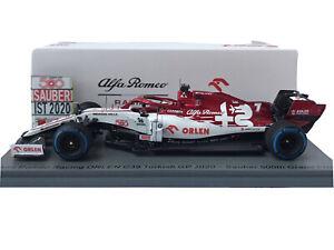 Spark S6492 Alfa Romeo C39 Kimi Räikkönen Sauber 500th GP Turkish GP 2020 1:43