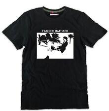 T-shirt FRANCO BATTIATO nera uomo o donna ottimo cotone arte cantante musica