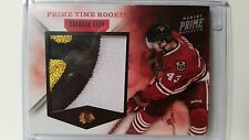 2011-12 Panini Prime Brandon Saad Prime Time Rookie RC 3 Color Patch 8/10