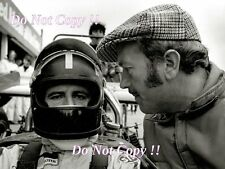 Graham Hill & Colin Chapman Gold Leaf Team Lotus F1 Portrait 1969 Photograph 2