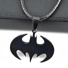 cool man boy Stainless Steel Batman logo Bat Pendants Necklace ST161