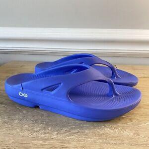 Ooofos Unisex Ooriginal Comfort Walking/Recovery Sandal W 8 M 6 Periwinkle