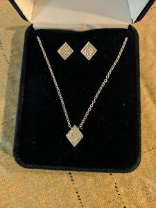 Montana SilverSmiths Tiny Iced Jewelry Set [Necklace & Earrings JS3617CZ]