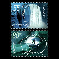 """Iceland 2001 - Europa stamps """"Nature Preservation"""" - Sc 937/8 MNH"""